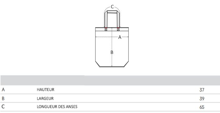 Guide de Taille Tote bag