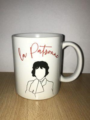 Patronne tasse mug idée cadeau petit déjeuner bol original