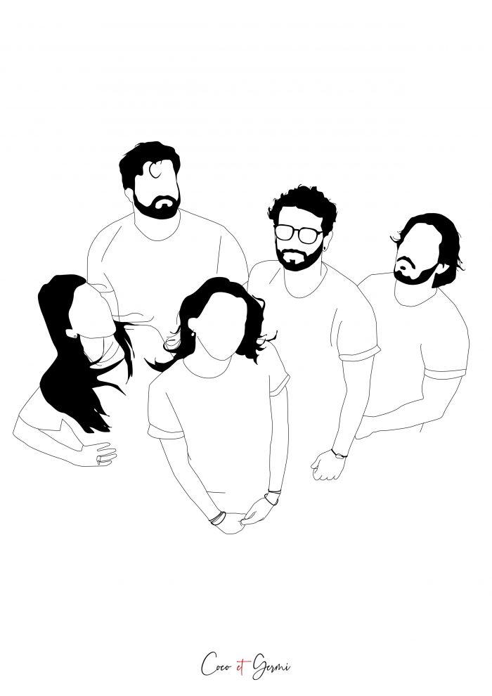illustration dessin graphique minimaliste fin simple