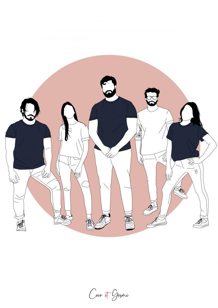 pop illustration dessin graphique minimaliste fin simple