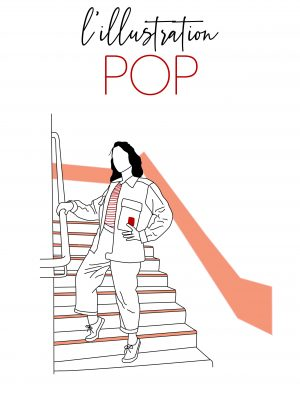 pop illustration dessin graphique minimaliste fin simple