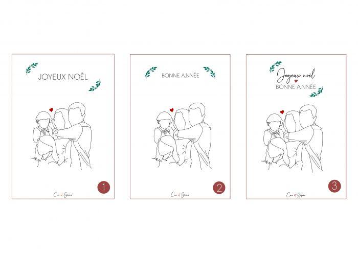 pop illustration dessin graphique minimaliste fin simple carte noel voeux cadeau original