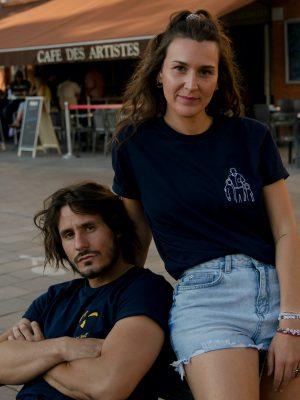 Tee shirt personnalisé bleu marine